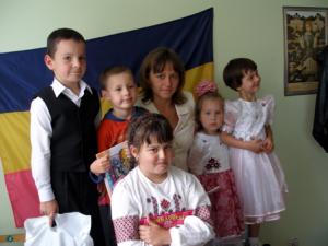 Наталія Пономаренко з дітьми