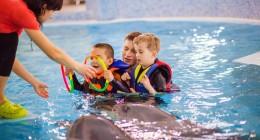 Трускавецький дельфінарій безкоштовно оздоровлює дітей з особливими потребами