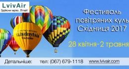 У Східниці відбудеться фестиваль повітряних куль