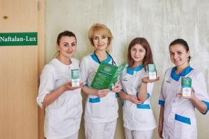 У Трускавці презентували білу нафталанову олію