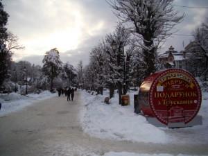 Вулиці зимового Трускавця в фотографіях