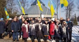 делегація з Дрогобиччини на вшануванні пам`яті отця Михайла Вербицького в селі Млини (Республіка Польща) 4 березня 2018 р.