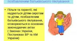Деякі гарантії для дітей-сиріт та дітей, позбавлених батьківського піклування